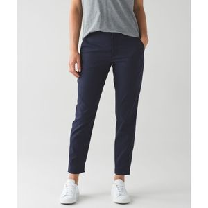 Lululemon city trek trouser in deep indigo